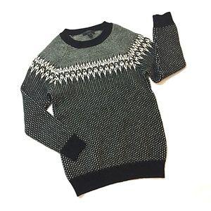 J. Crew Merino Fair Isle Ski Sweater Size Small